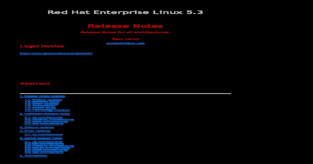 Release Notes Rhel - [PDF Document]