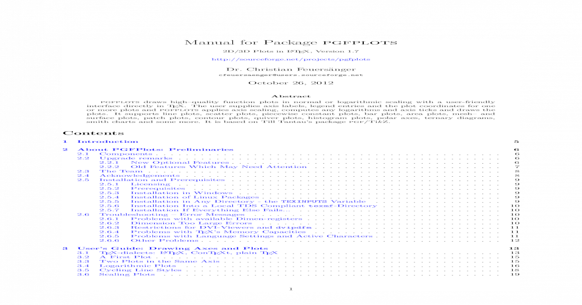 pgfplots - [PDF Document]